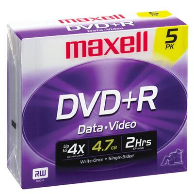 DVD+R 5 Pack Data and Video