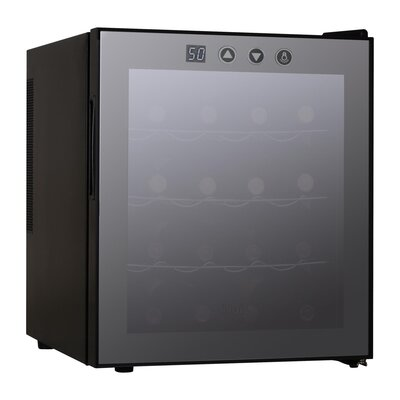 16 Bottles Wine Cellar with Electronic Controls in Black