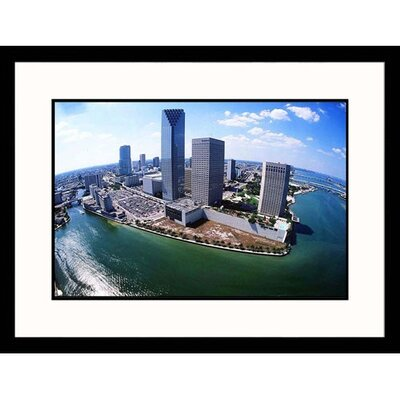 Great American Picture Biscayne Bay Meets Miami River Framed Photograph  - Scott Smith
