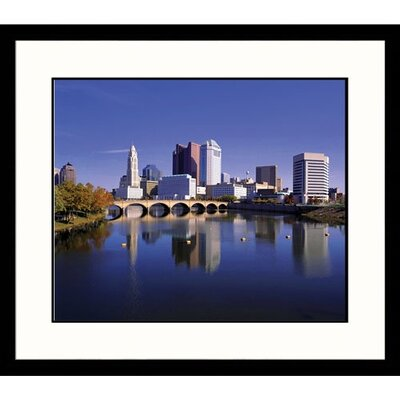 Great American Picture Columbus Skyline Framed Photograph - Richard Stockton