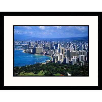 Great American Picture View of Honolulu Framed Photograph