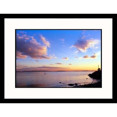 Winter Ocean Sunset Framed Photograph - Steve Dunwell
