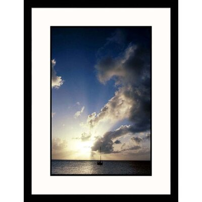Great American Picture Sailboat at Dusk Framed Photograph