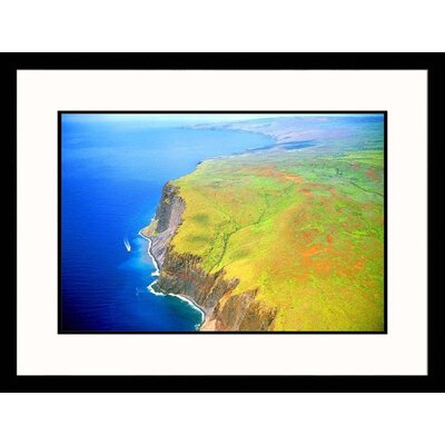 Great American Picture Hawaii Cliffs Framed Photograph - Jim Wark