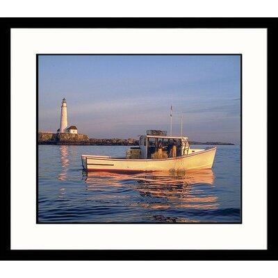 Boston Light Framed Photograph