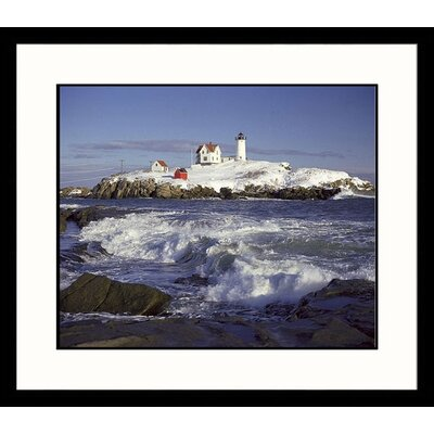 Nubble Winter Framed Photograph