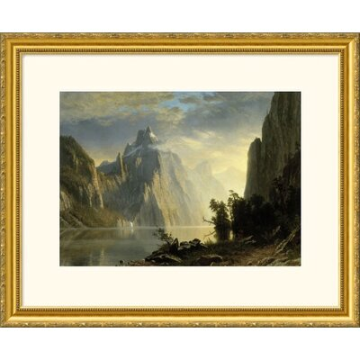 Great American Picture A Lake in the Sierra Nevada Gold Framed Print - Albert Bierstadt