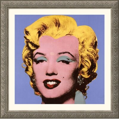 Shot Blue Marilyn, 1964 Silver Framed Print - Andy Warhol