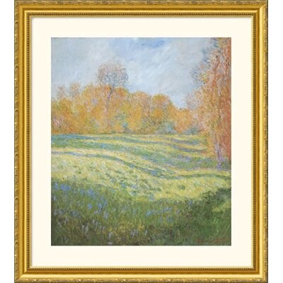 Great American Picture Meadow at Giverny Gold Framed Print - Claude Monet