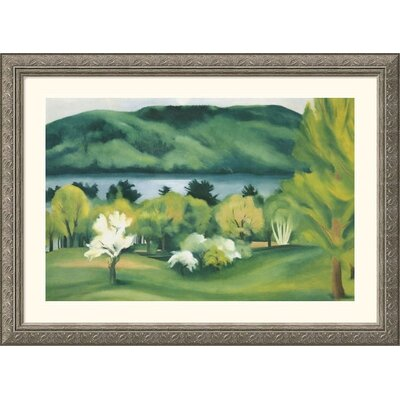 Lake George Early Moonrise Silver Framed Print - Georgia O'Keeffe