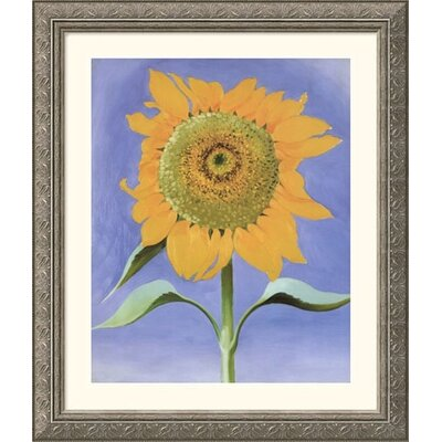 Sunflower, New Mexico, 1935 Silver Framed Print - Georgia O'Keeffe