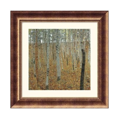 Birch Forest Bronze Framed Print - Gustav Klimt
