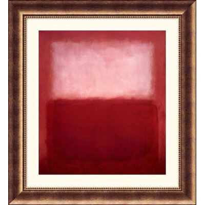 Great American Picture White Over Red Bronze Framed Print - Mark Rothko