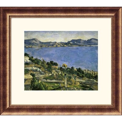 Great American Picture L'Estaque Bronze Framed Print - Paul Cezanne