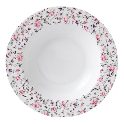 Royal Albert Rose Confetti Casual Rimmed Soup and Salad Bowl