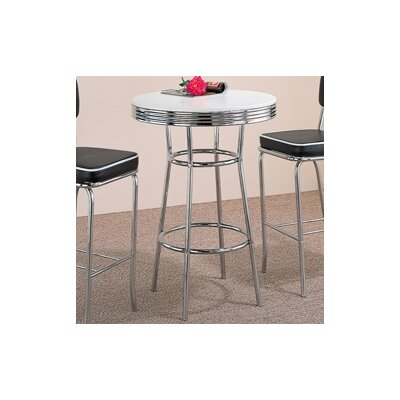 Wildon Home ® Red Cliff Retro Bar Table in Crome