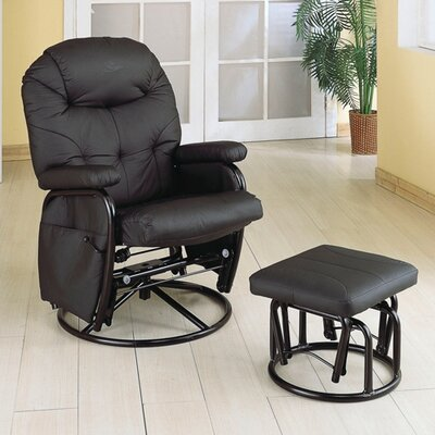 Wildon Home ® Glenada Leatherette Recliner and Ottoman