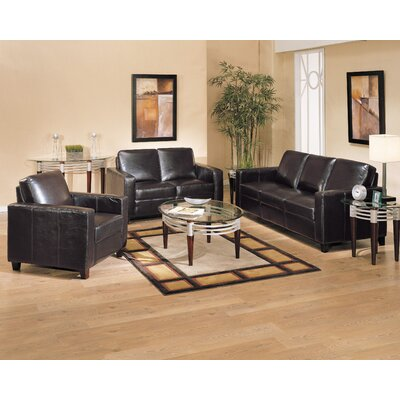 Wildon Home ® Bycast Bycast Leather Loveseat