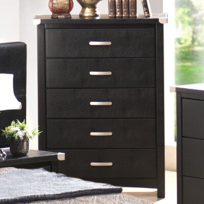 Wildon Home ® Vinyl 5 Drawer Tall Chest