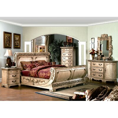 Wildon Home ® Cannes Sleigh Bedroom Collection