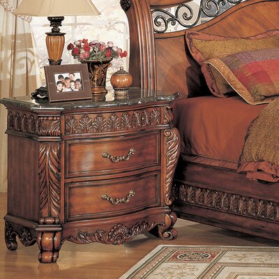 Wildon Home ® Nicholas 2 Drawer Nightstand