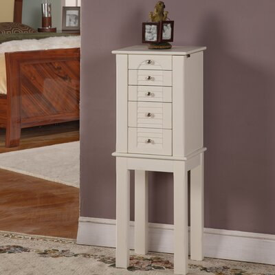 Wildon Home ® Winston Four Drawer Jewelry Armoire in White