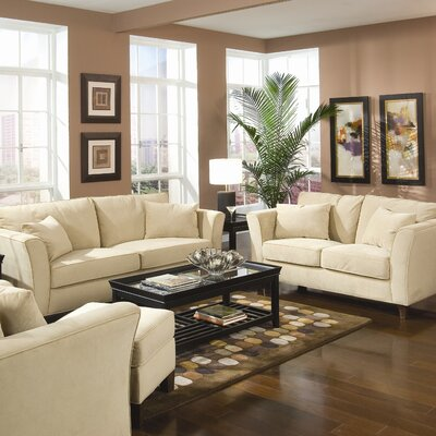 Wildon Home ® Cumberland Grove Velvet Living Room Set