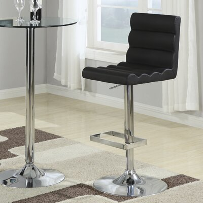 Wildon Home ® Groom Barstool with Ridged Back in Black
