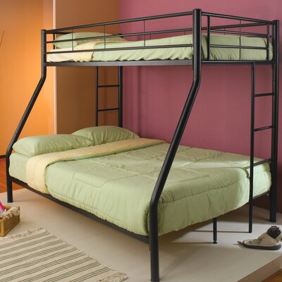 Wildon Home ® Elgin Twin over Full Bunk Bed with Built-In Ladder