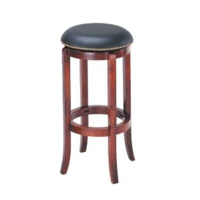 "Wildon Home ® 30"" Swivel Bar Stool with Nailhead Trim"