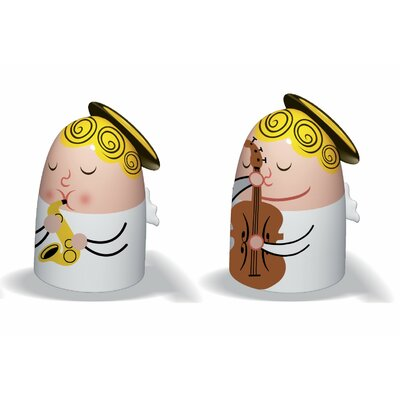 Alessi Angels Band Figurines (Set 1 of 2) (Set of 2)