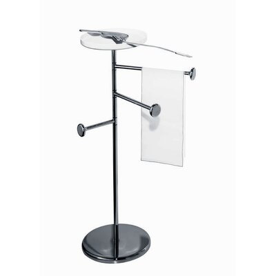 Alessi Birillo Towel Stand in Chrome-Plated Steel by Piero Lissoni