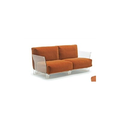 Kartell Pop Loveseat with Transparent Leg