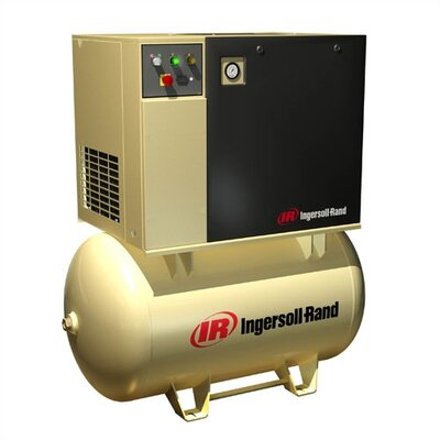Ingersoll Rand 80 / 120 Gallon Rotary Screw Air Compressor, 15 HP, 125 PSI, 55 CFM
