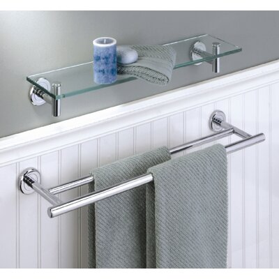 Gatco Latitude II Double Towel Bar in Satin Nickel