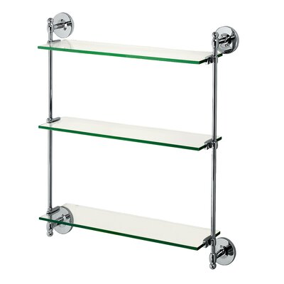 Gatco Premier 3-Tier Wall Glass Shelf  in Chrome