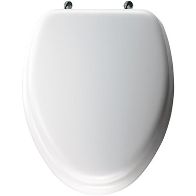 Bemis Elongated Soft Toilet Seat with Stylish, Secure Chrome Hinges