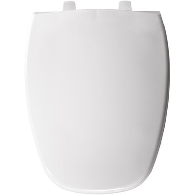 Bemis Eljer Molded Emblem Solid Plastic Elongated Toilet Seat