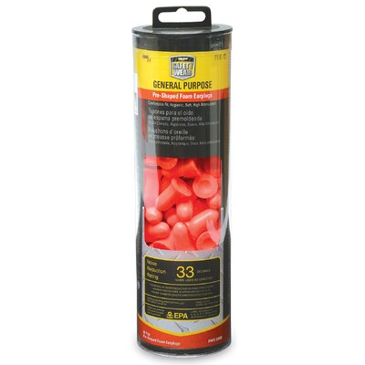 60 Pair Orange Foam Earplugs RWS-53008