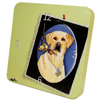 Lexington Studios Yellow Lab Tiny Times Clock