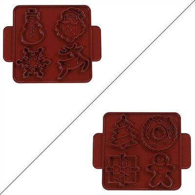 Nordicware Kitchenware Christmas / Winter Cookie Cutter Sheet