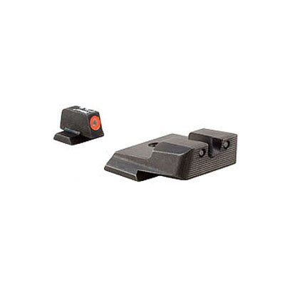 S and W HD Night Sight Set with Orange Front Outline