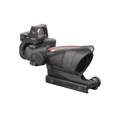 Trijicon ACOG 4x32 Scope Dual Illuminated Red 223 Ballistic Reticle and 3.25 MOA RMR Sight