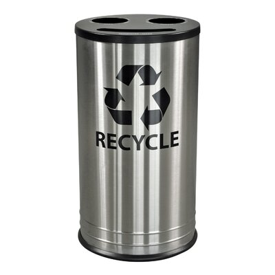 Ex-Cell Three Stream Indoor Recycling Receptacle