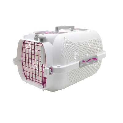 Catit Style Pink Ribbon Voyager Small Cat Carrier in White