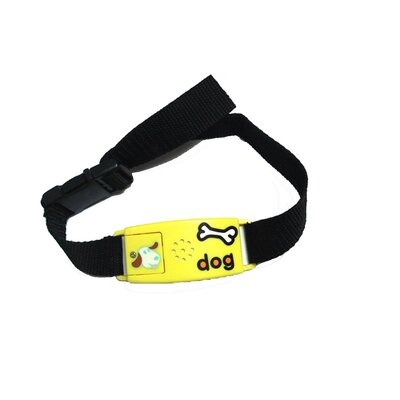 Pet Tag Classic No Bark Large Collar in Yellow