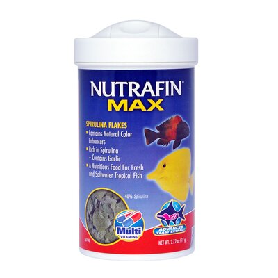 Nutrafin Max Spirulina Flakes Fish Food