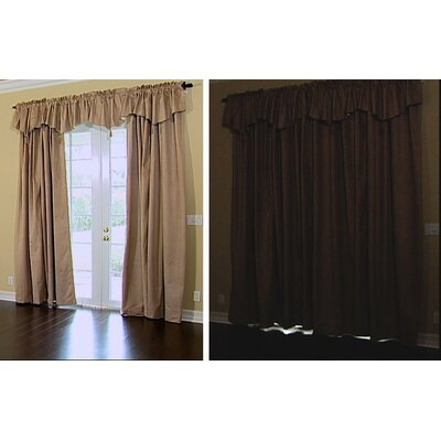 Sound Asleep Room Darkening Rod Pocket Ascot Window Panel Set in Grey
