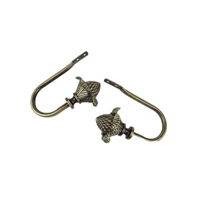 Rod Desyne Modern Bloom Holdback / Tieback in Antique Brass (Set of 2)