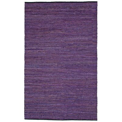 St. Croix Matador Purple Leather Chindi Rug
